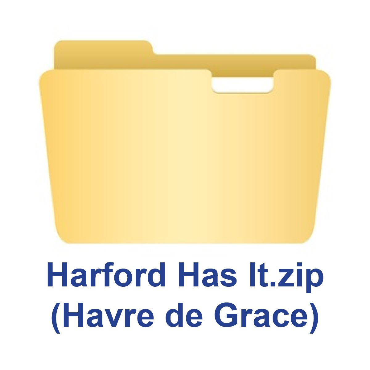 Zip Folder Icon_Havre de Grace