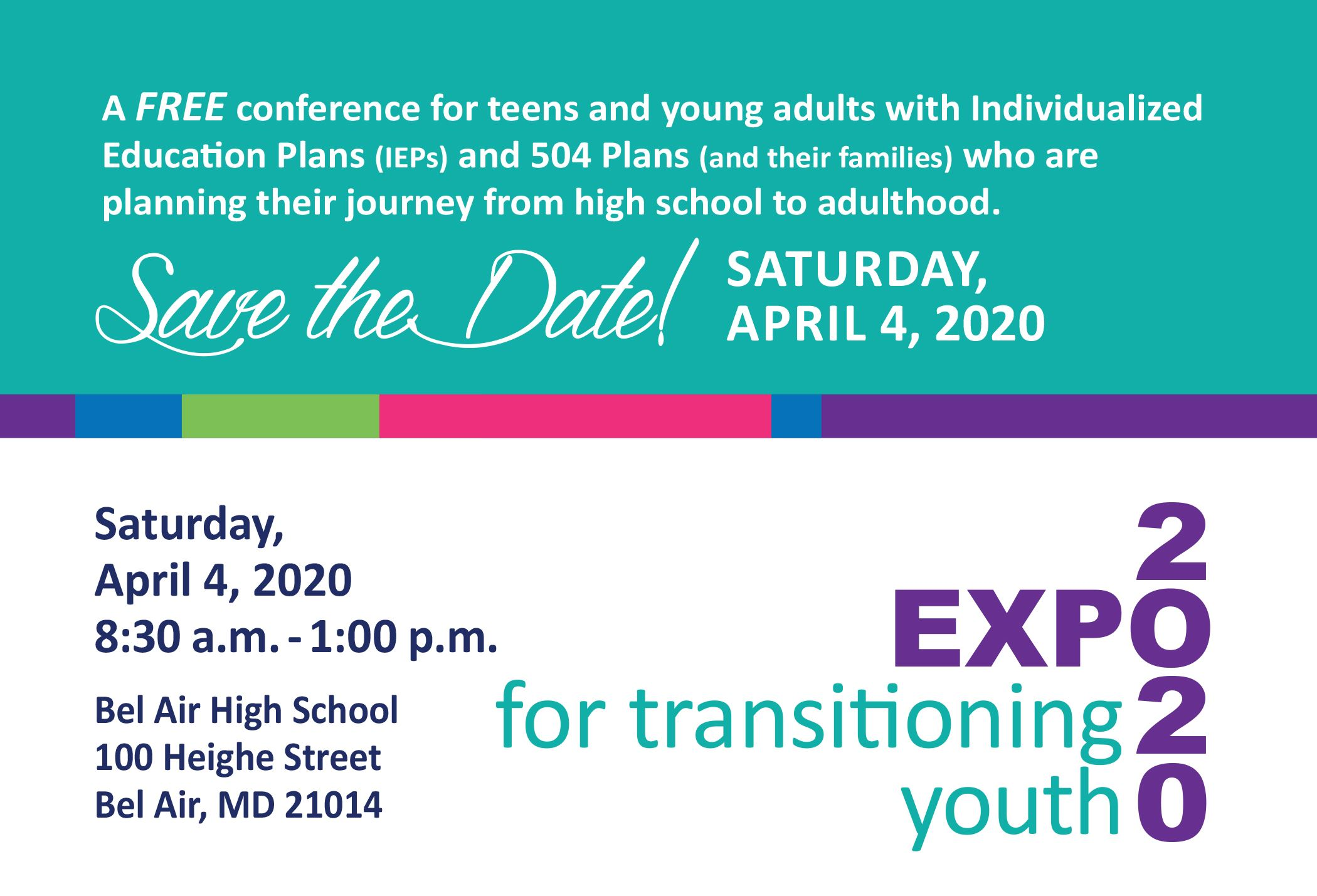 Transitioning Expo Save the Date Image