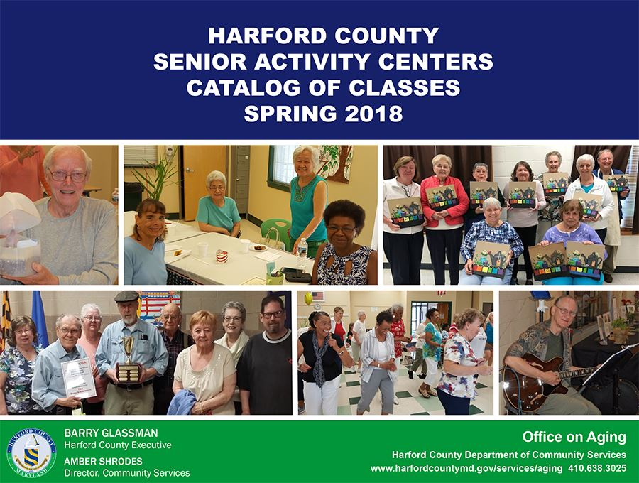 Senior Activity Center Catalog Spring 2018 Front Cover