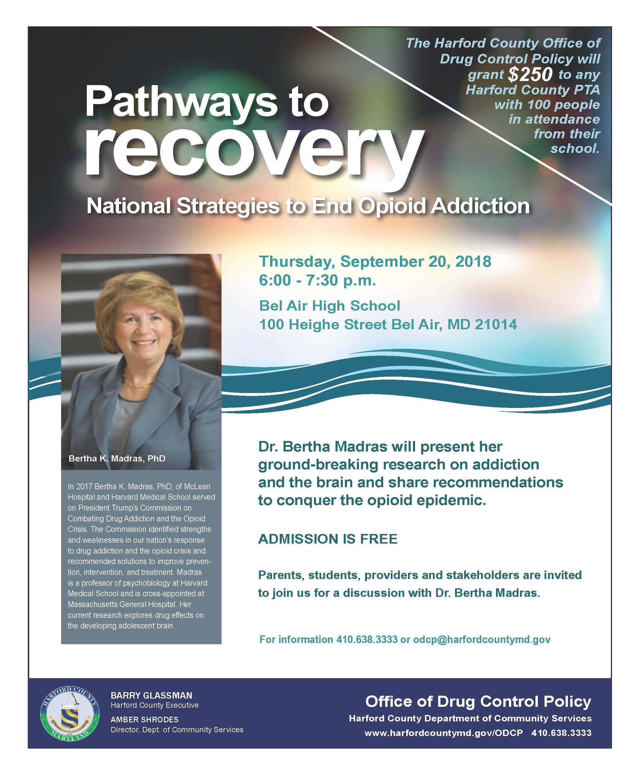 Pathways to Recovery Event Flyer with PTA Banner