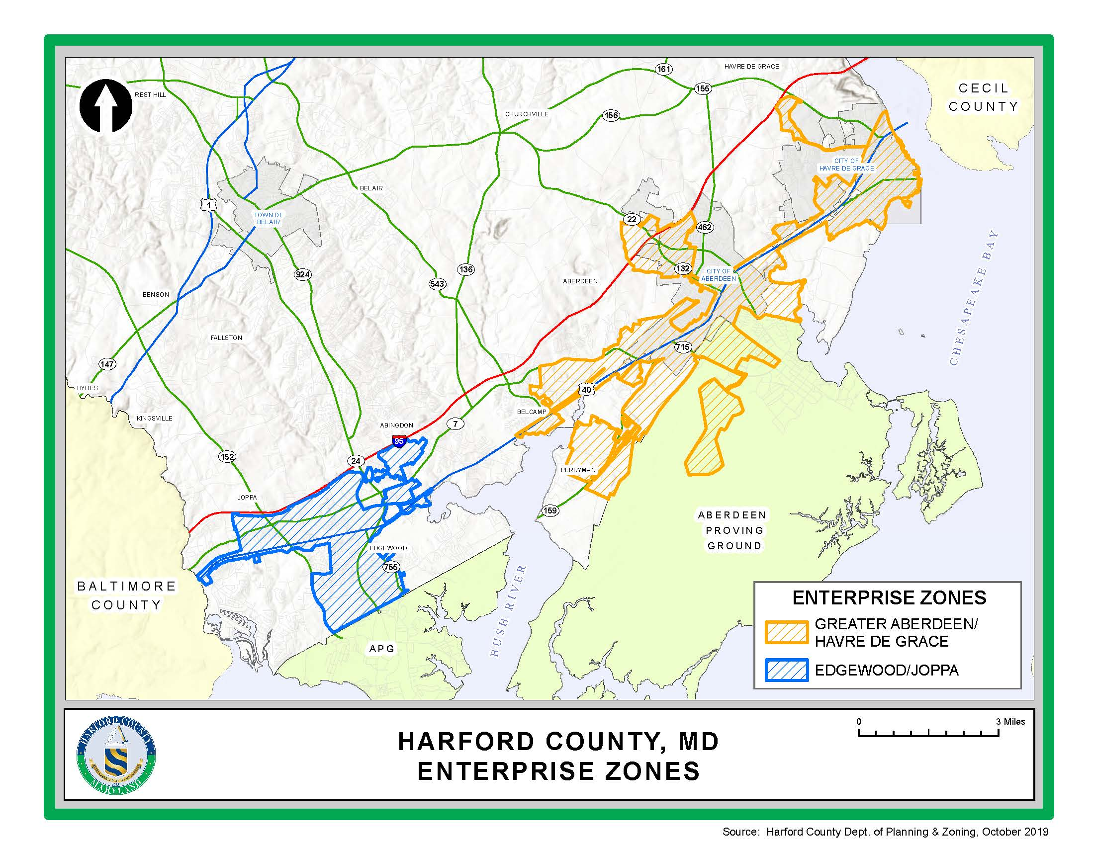 Enterprise Zones Map October 2019