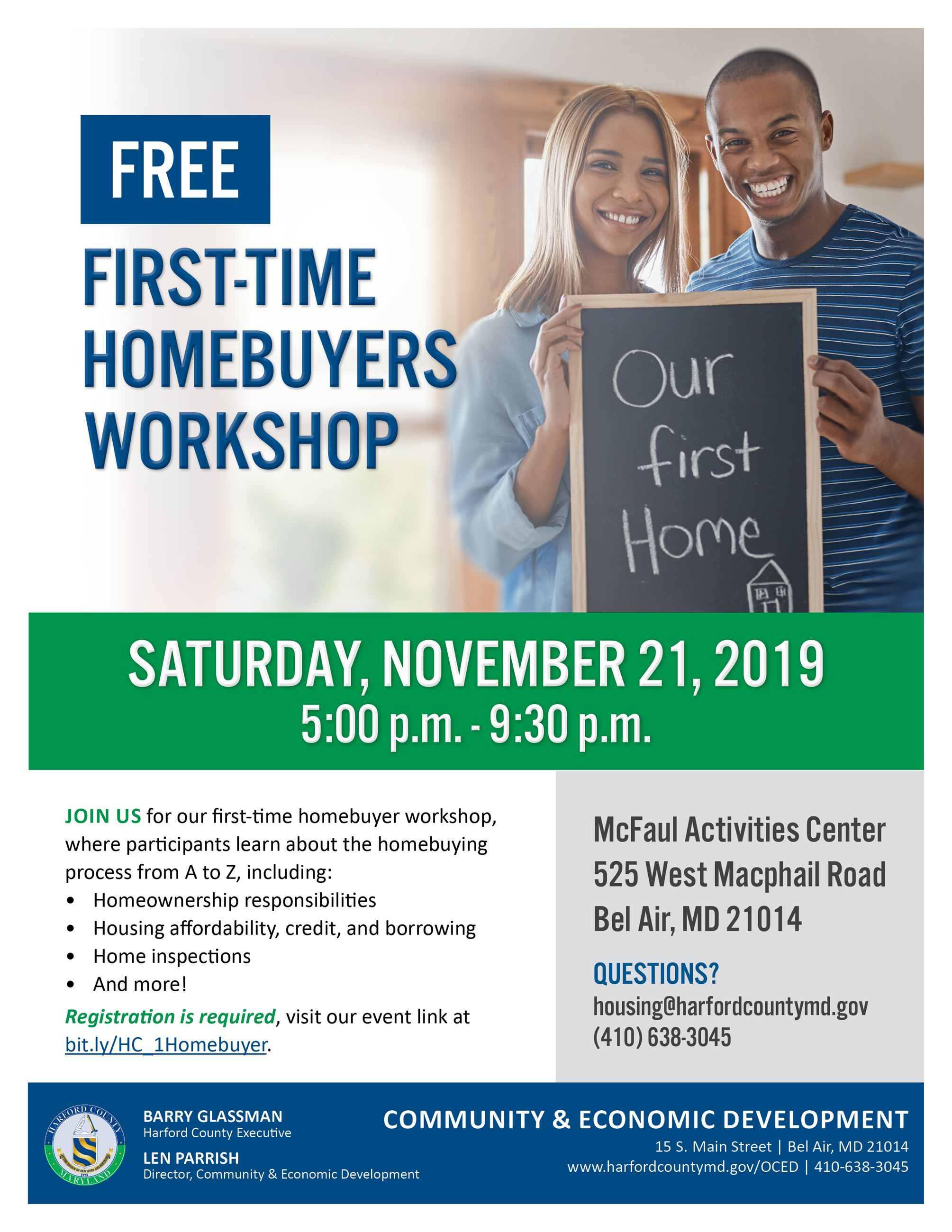 First Time Homebuyers Workshop Flyer_2019_11