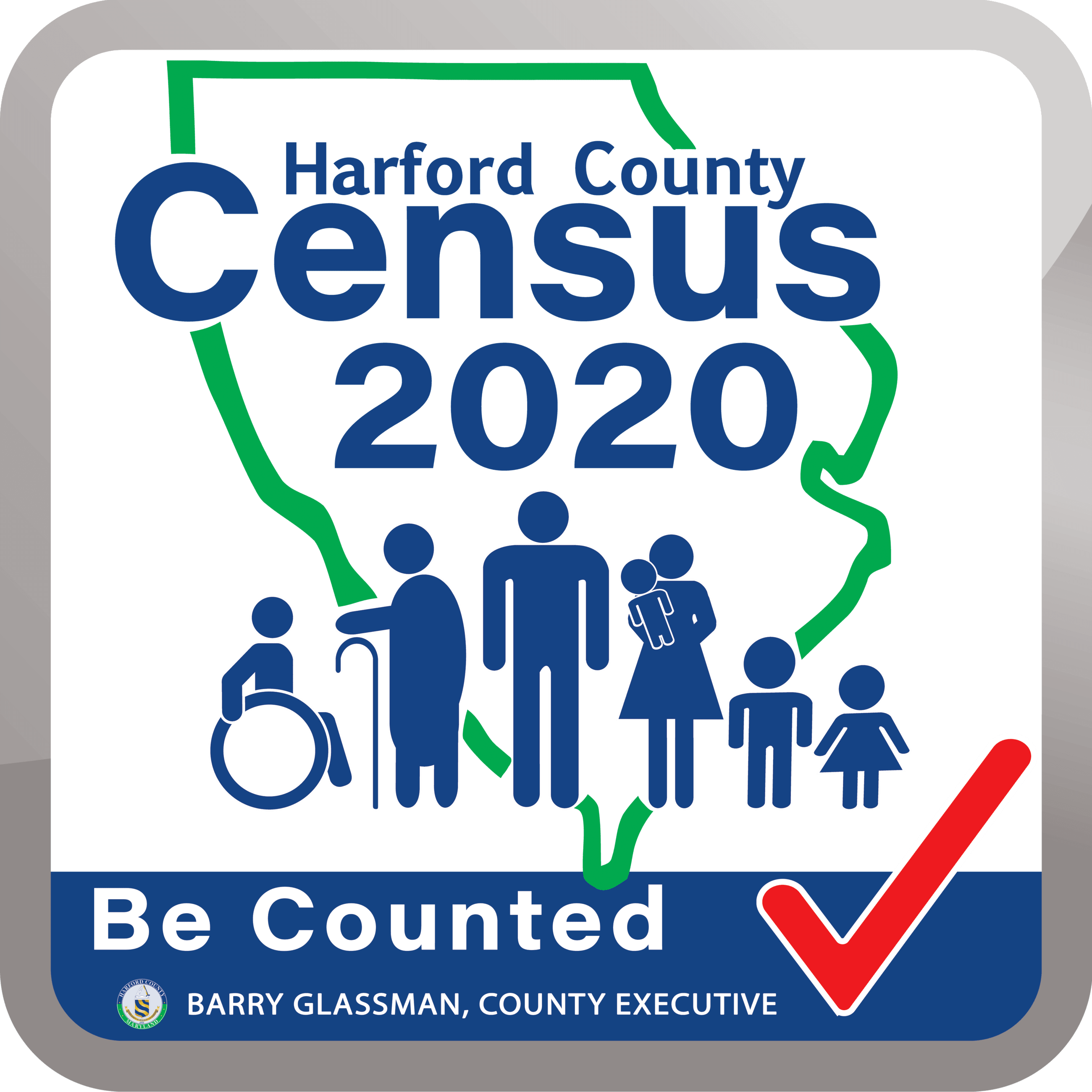 Harford County Census 2020 - Be Counted link to Harford County Census page