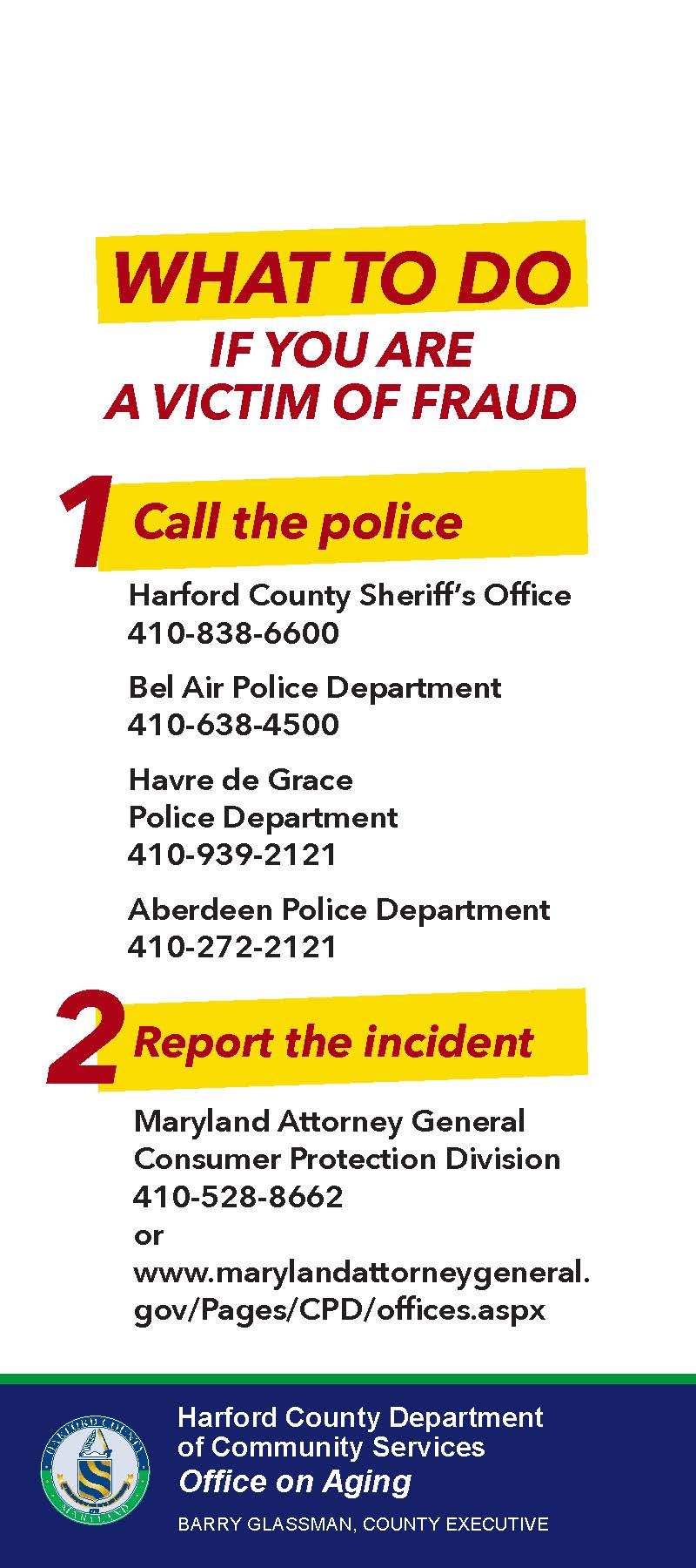 Fraud Resources Harford County Md