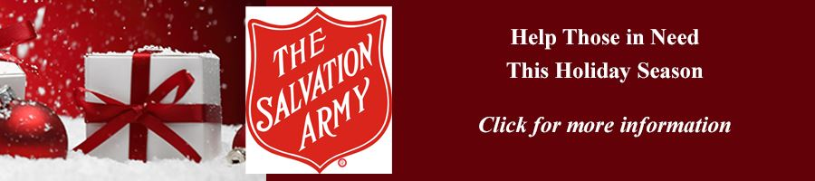 Salvation Army Giving Oportunities Click for More information Button