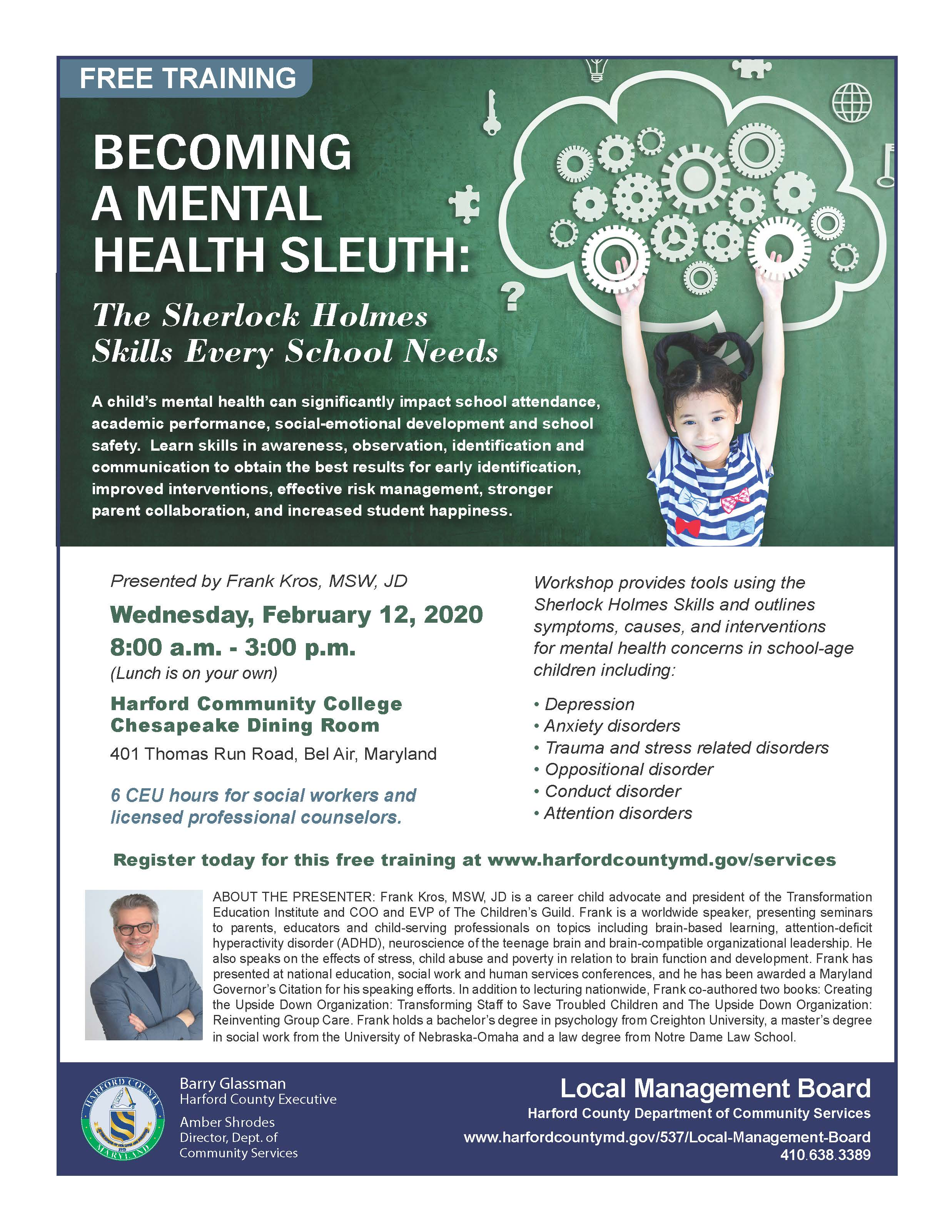Become a Mental Health Sleuth Flyer