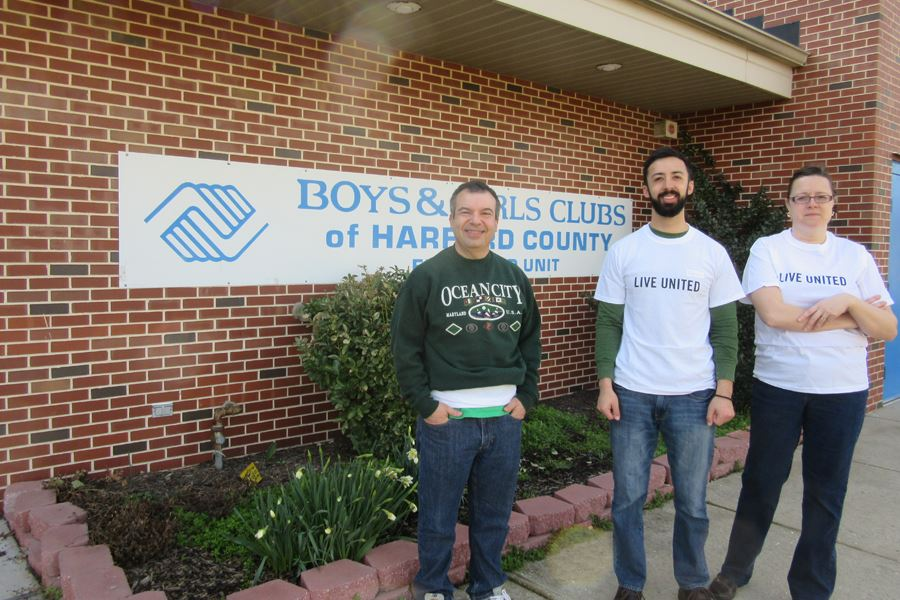 County Employees participating in Boys and Girls Club Beautification project