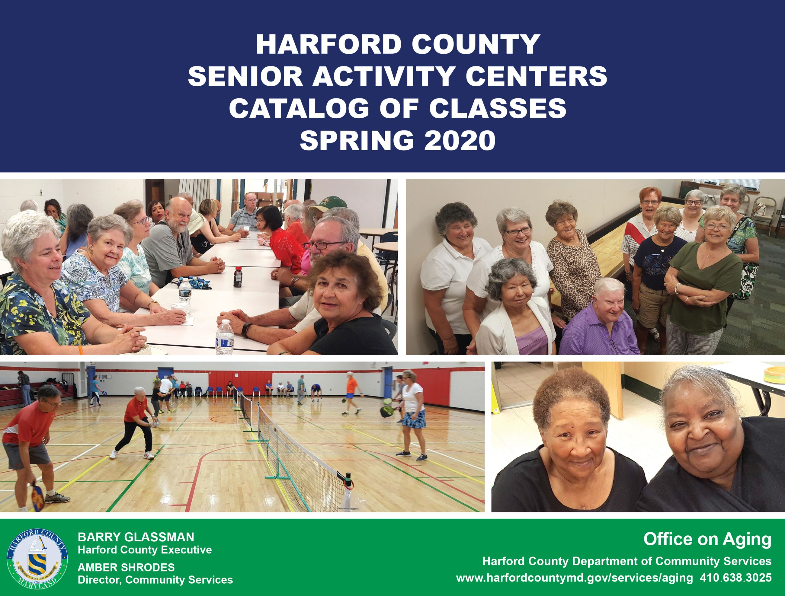 Senior Activity Center Catalog Spring 2020 button for front page