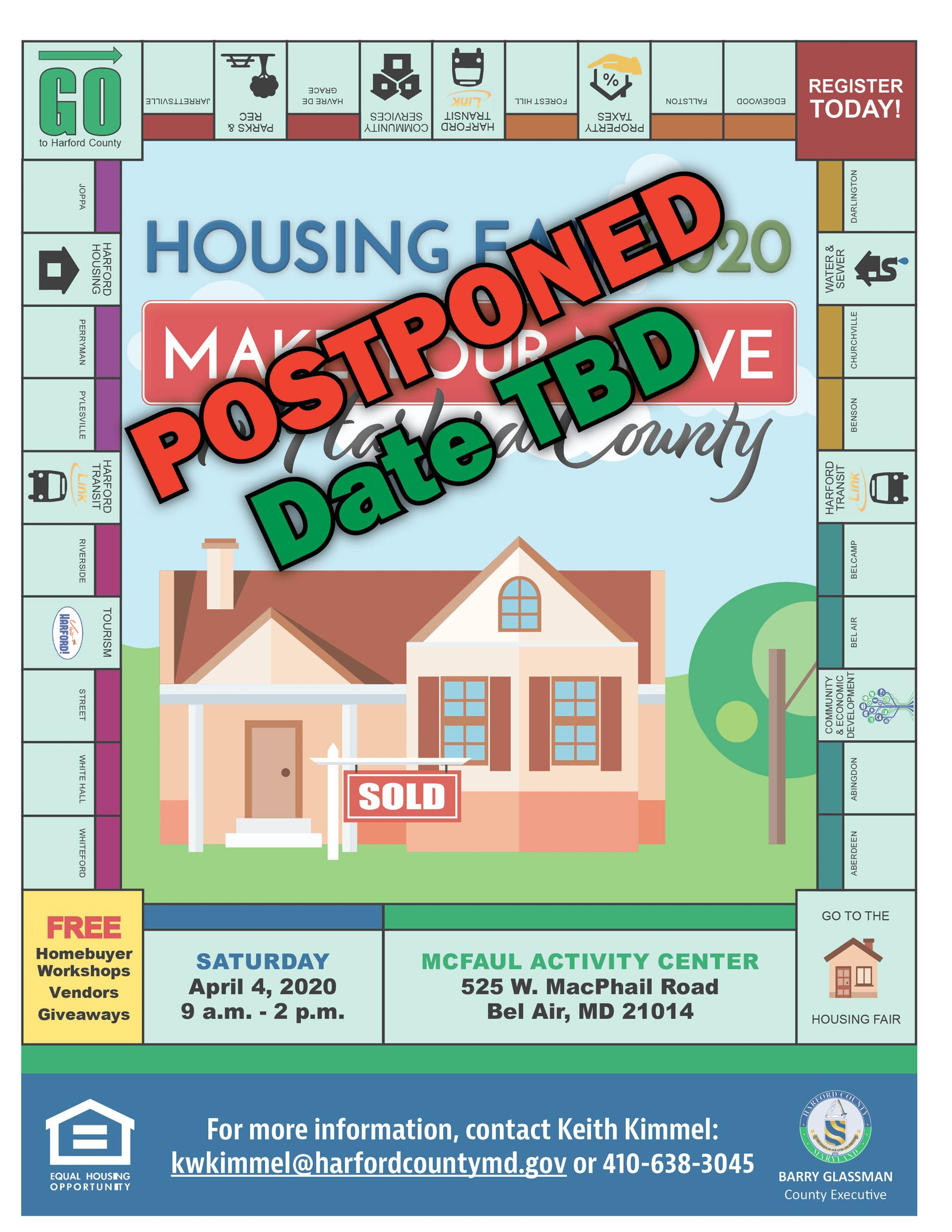 Housing Fair 2020 POSTPONED