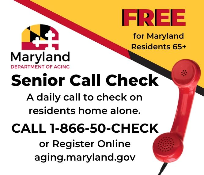 Maryland Senior Citizen Call Check link