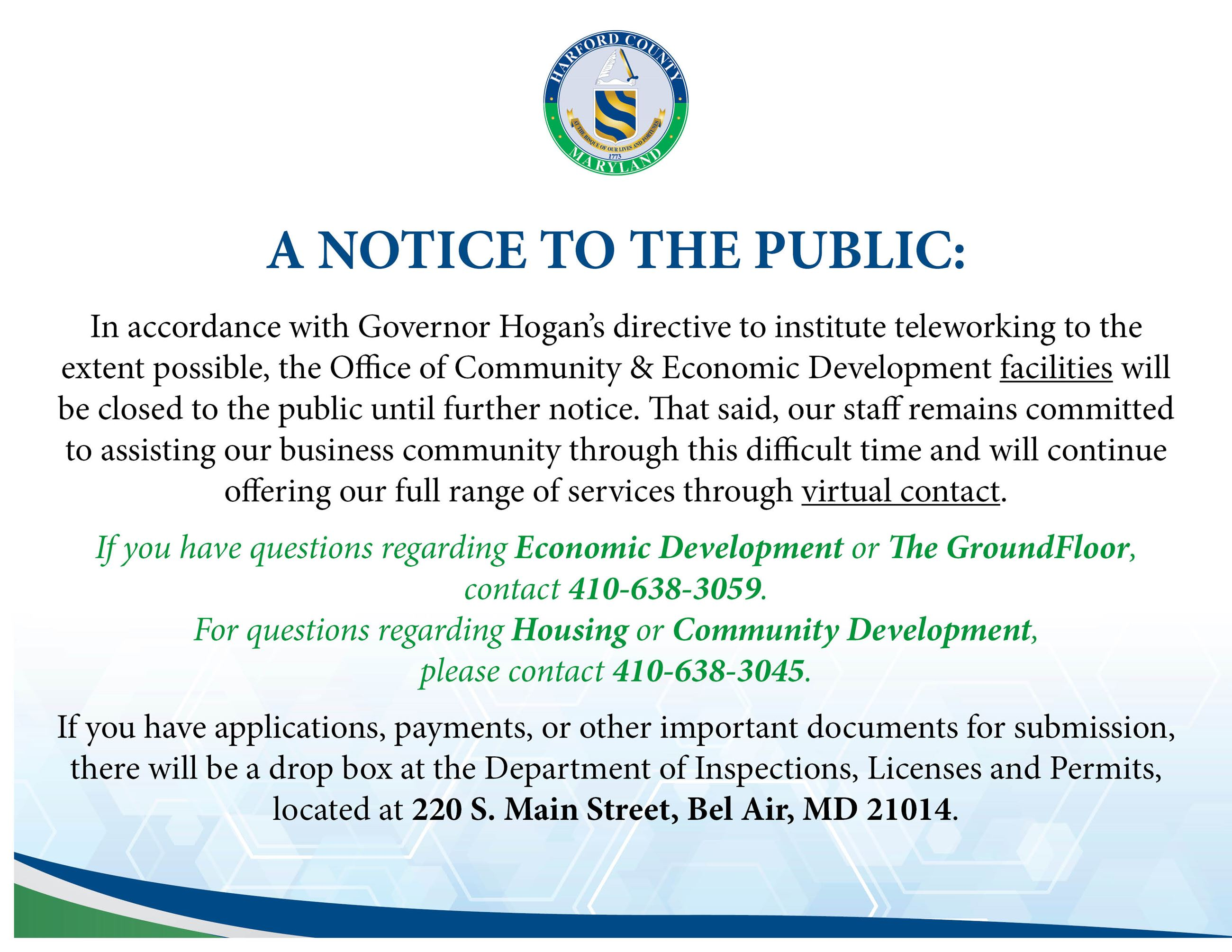 Notice for OCED_Economic Development