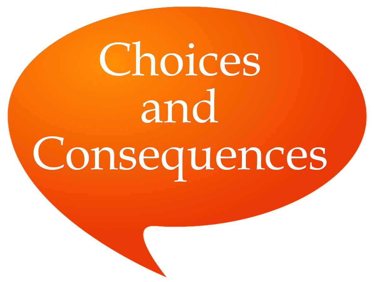 Choices and Consequences Speech Bubble