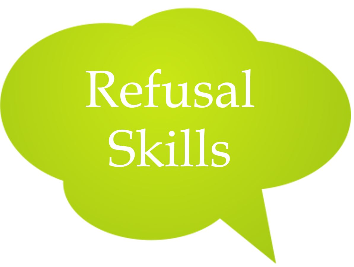 Refusal Skills Speech Bubble