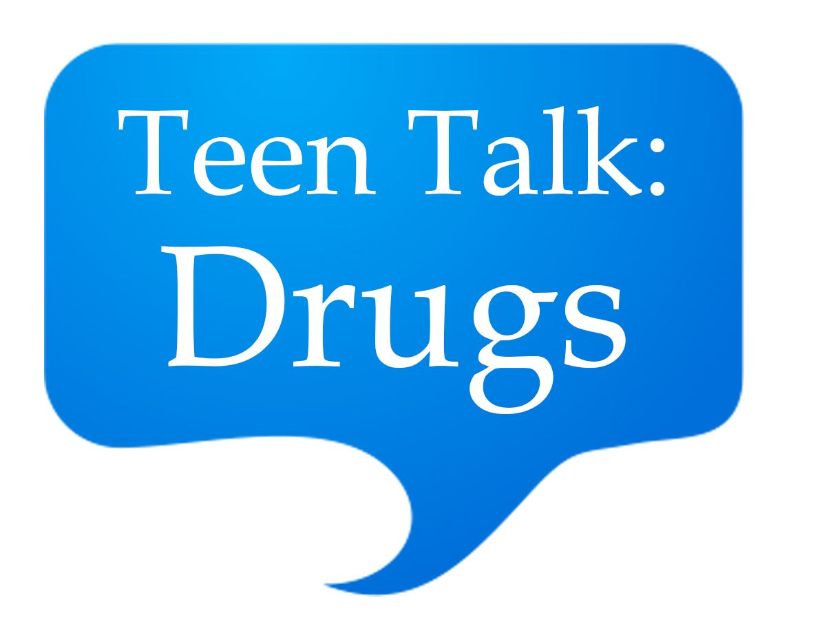 Teen Talk Drugs Speech Bubble