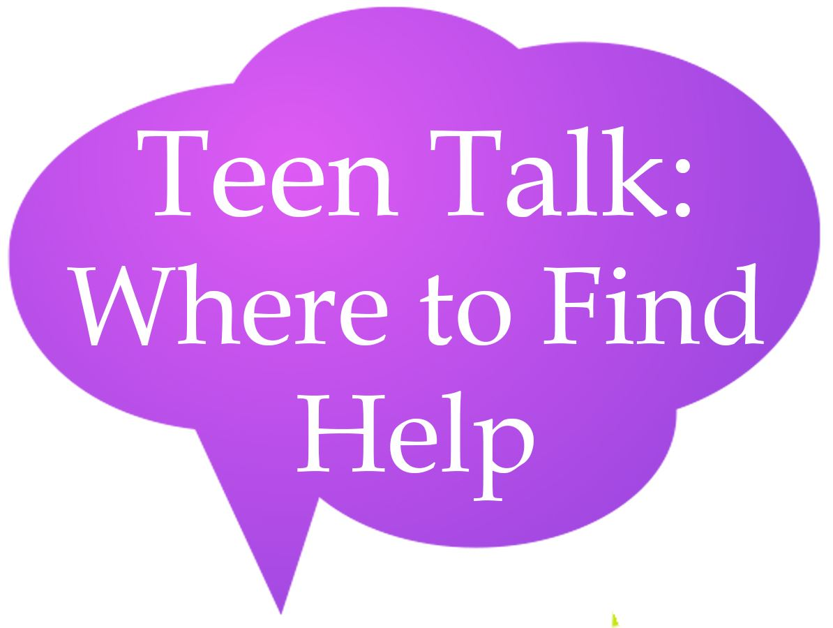 Teen Talk Where to Find Help Speech Bubble