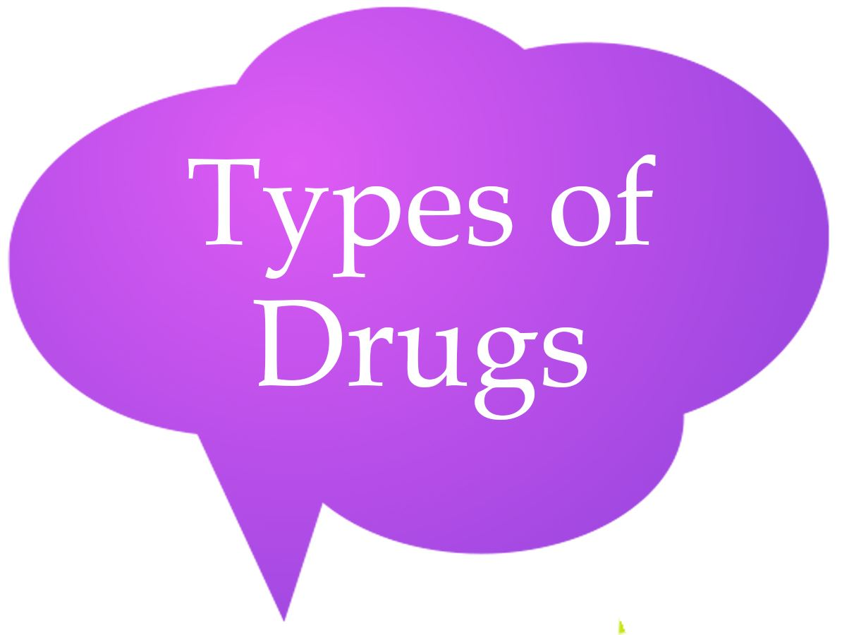 Types of Drugs Speech Bubble