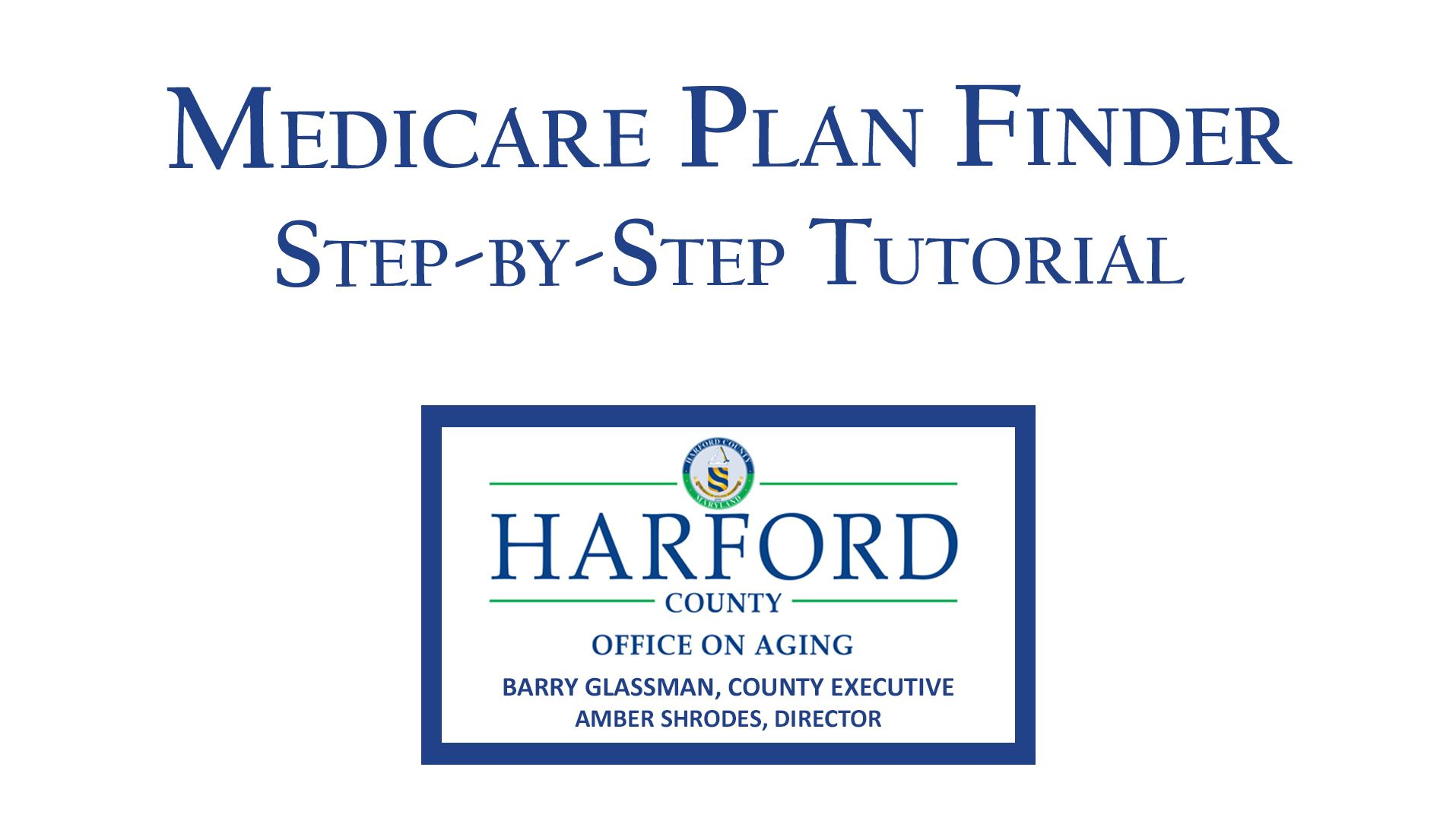 Medicare Plan Finder Tutorial Information Website thumbnail