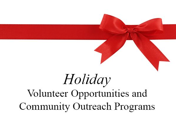 Holiday Volunteer Opportunities Button