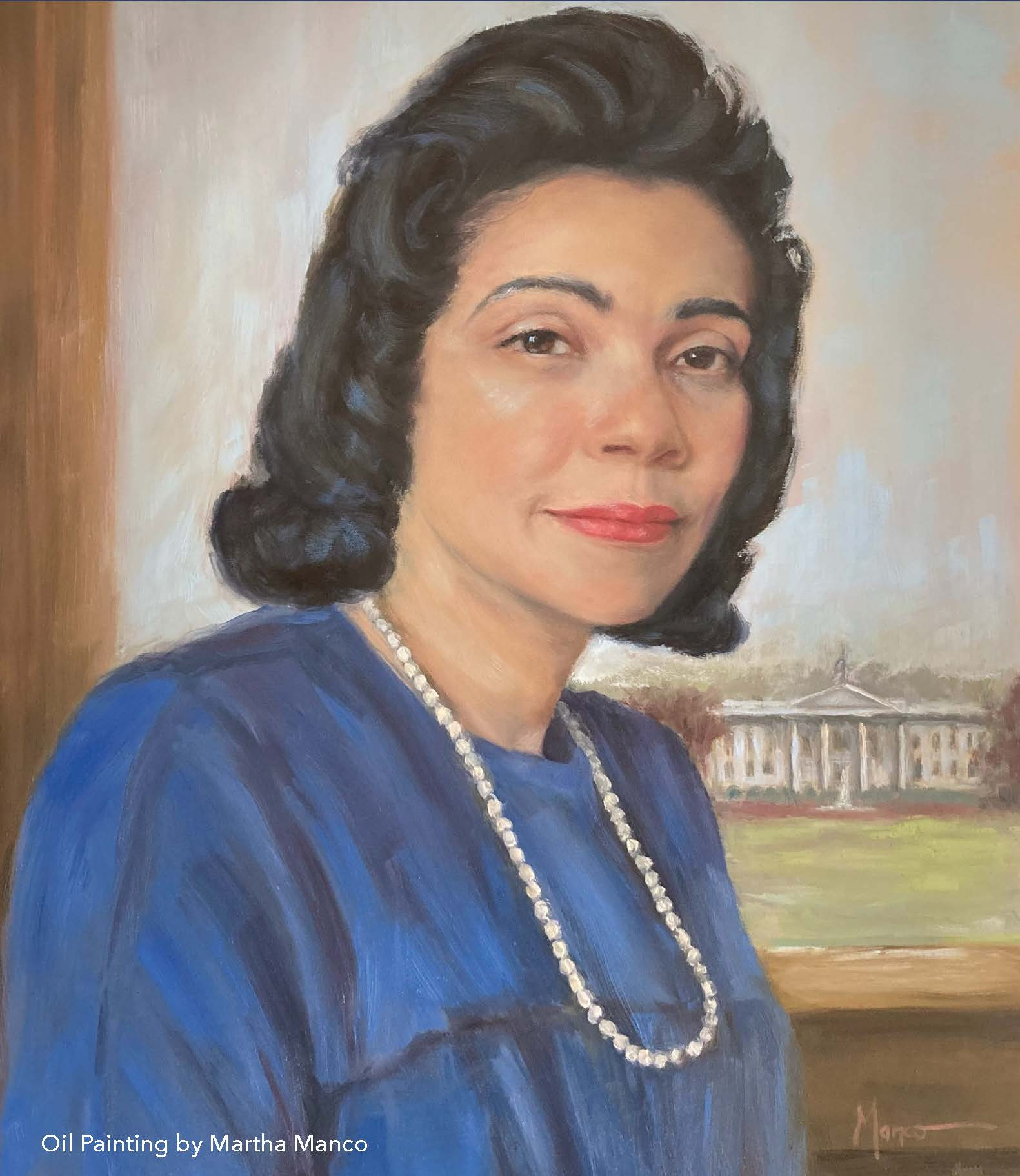 Coretta Scott King Oil Painting Picture