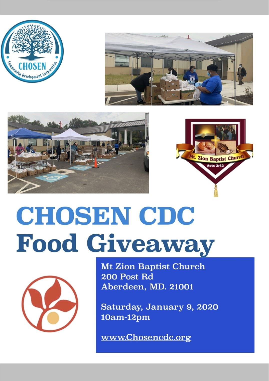 Chosen Development Corporation Food Giveaway