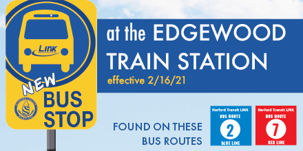 New Bus Stop at Edgewood Train Station