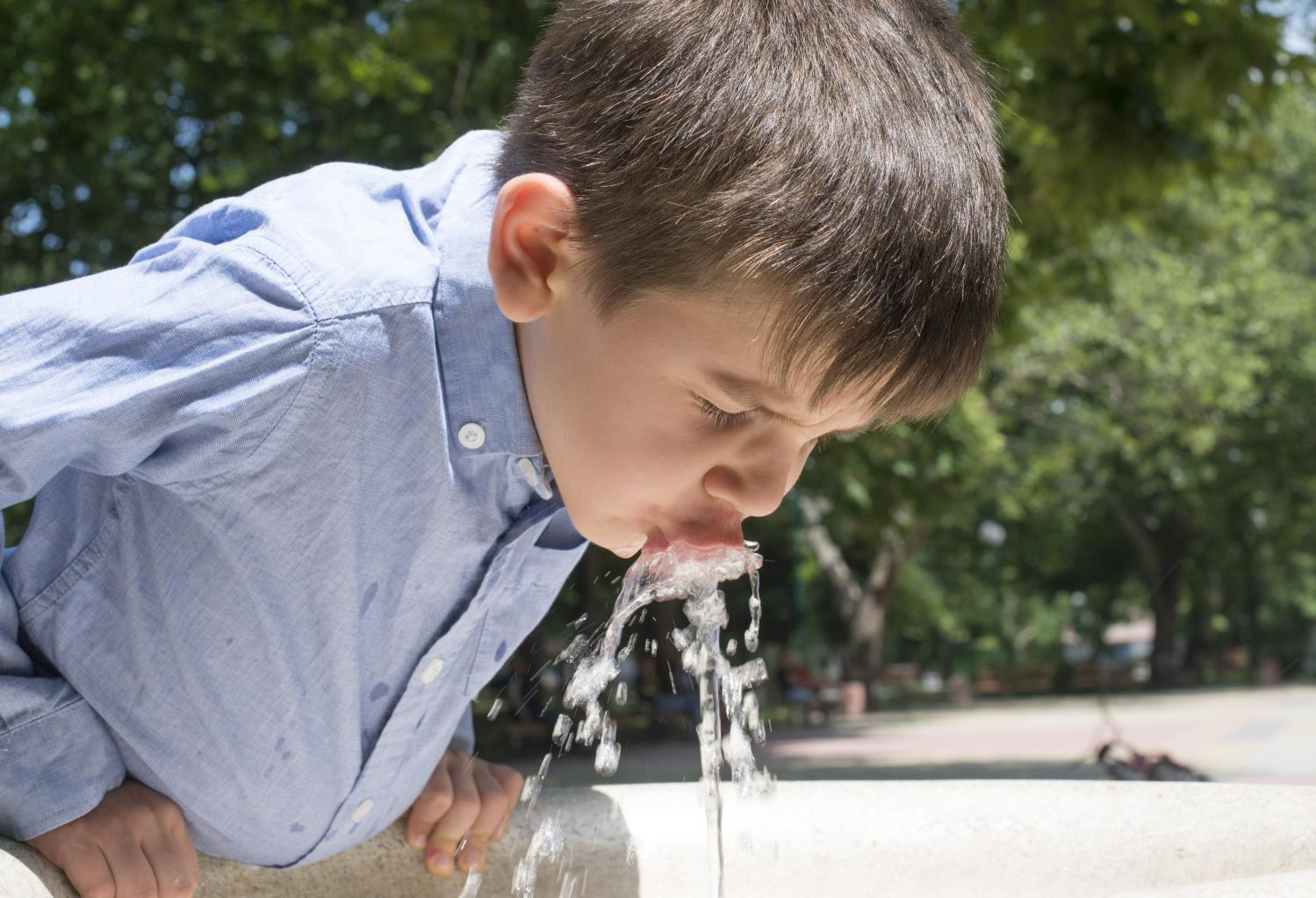 Boy Water Fountain
