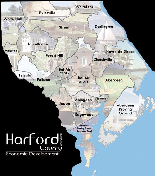 Harford County Map