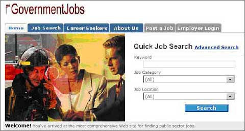 Quick Job Search Screen