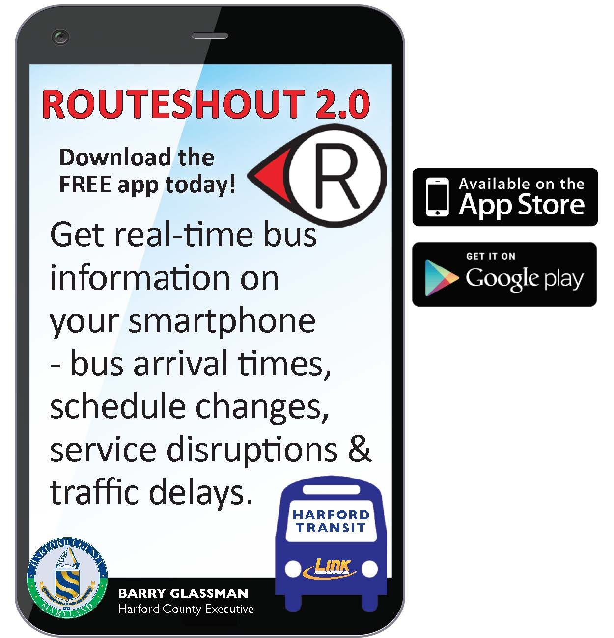 RouteShout Cell Phone Icon for Website