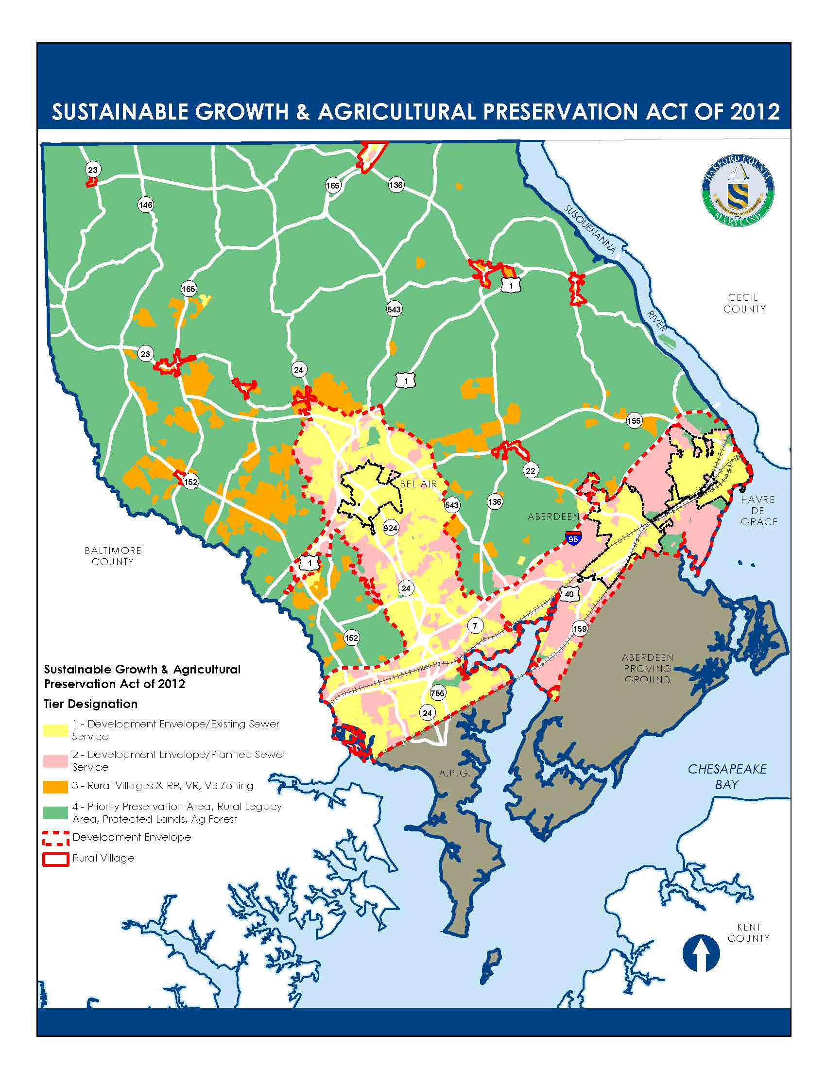 Tier designations to guide development and further protect the Chesapeake Bay.