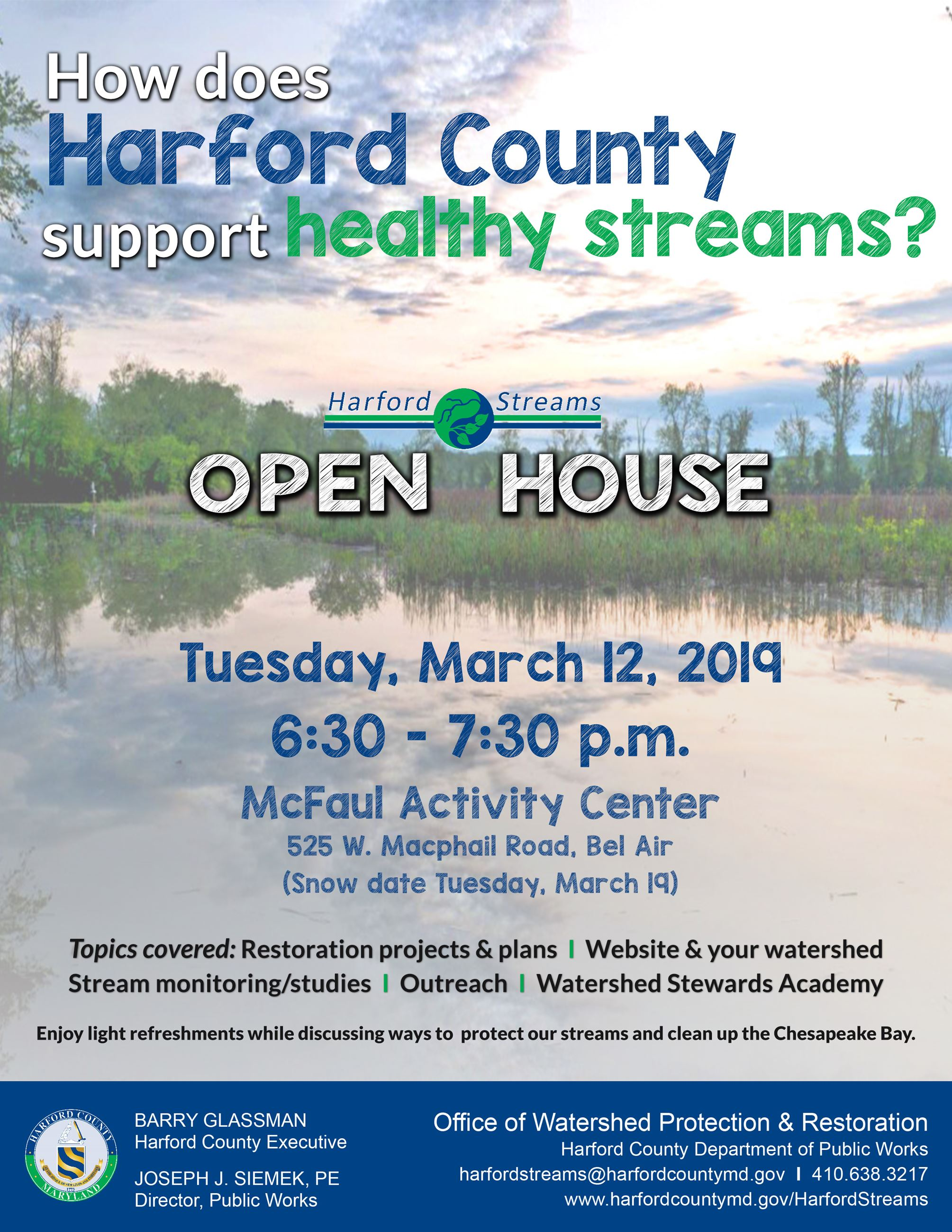 Harford Streams Open House 2019 Opens in new window