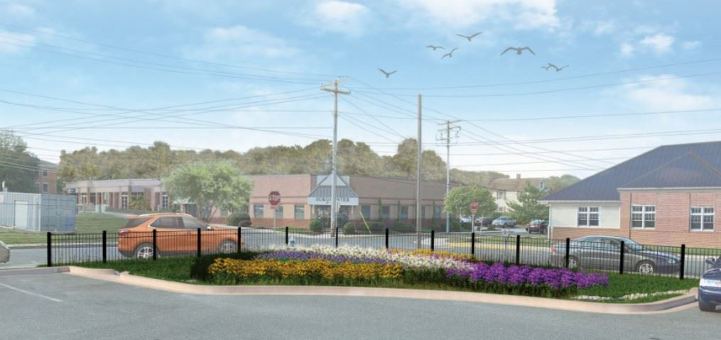 Proposed - parking lot view
