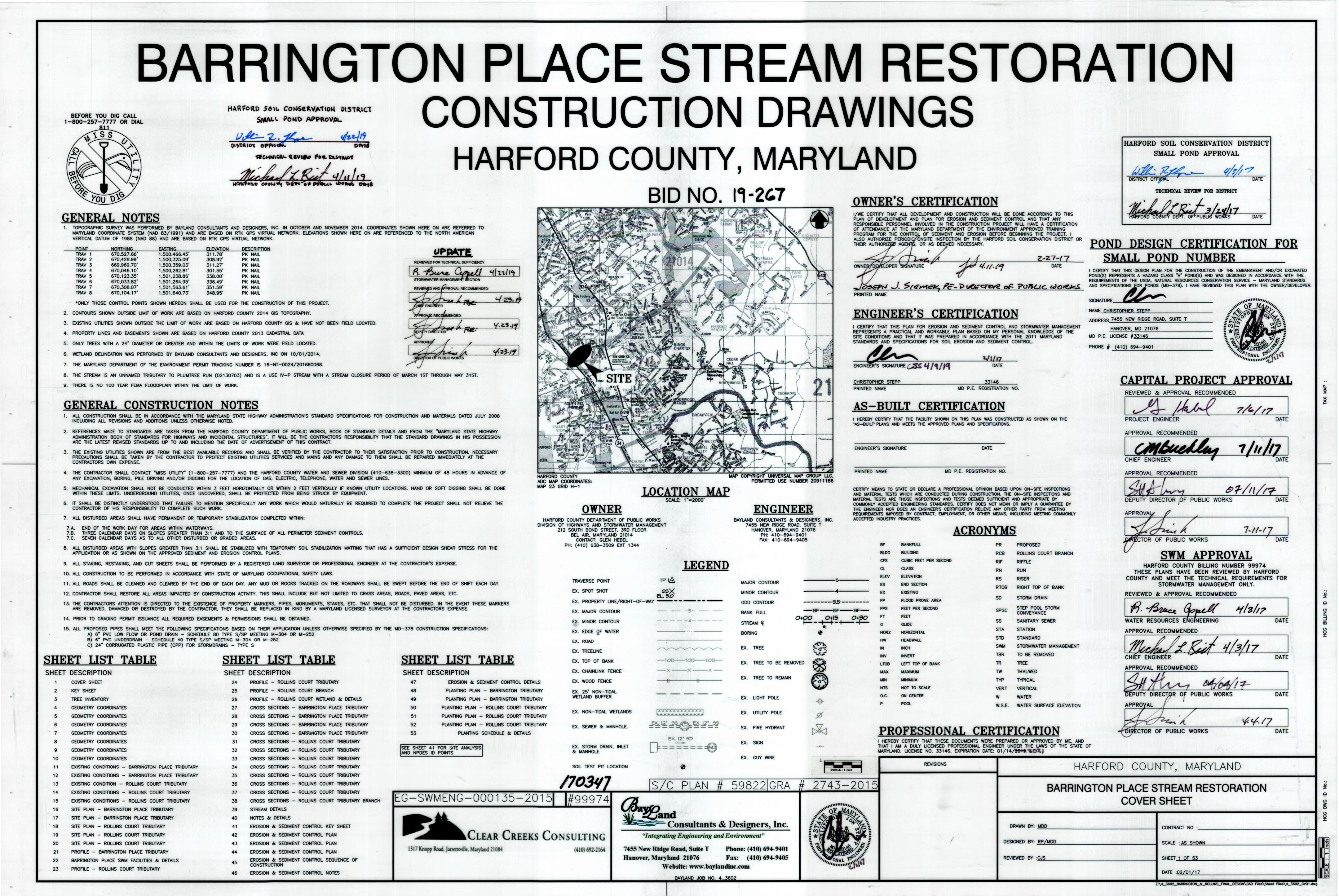 Barrington Plan Title Sheet Opens in new window