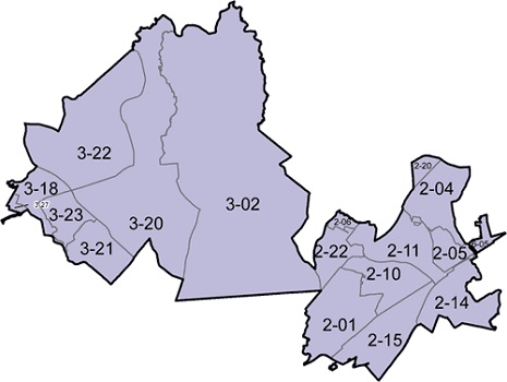 District E subdistricts